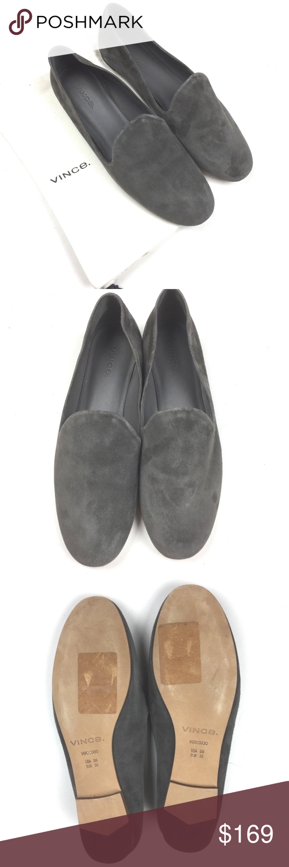 ce0a02f6afa Vince Milo Loafer Pewter Suede Gray with Dust Bag Elegant Vince Milo Loafer  Suede Gray