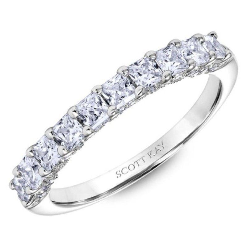 White Gold Scott Kay Diamond Wedding Band Womens Wedding Bands Engagement Ring Wedding Band Scott Kay Engagement Rings