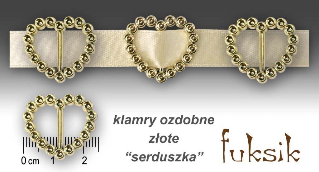 Fuksik Klamry Klamra Serce Serduszko 1szt Slub 2399952758 Oficjalne Archiwum Allegro Gold Bracelet Jewelry Gold