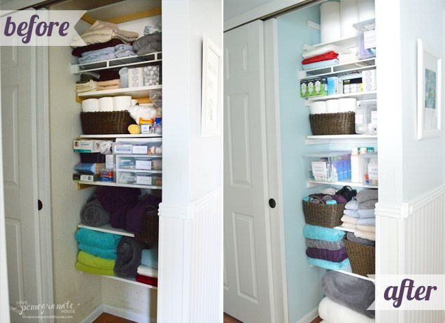 Linen Closet Mini Makeover   Love, Pomegranate House