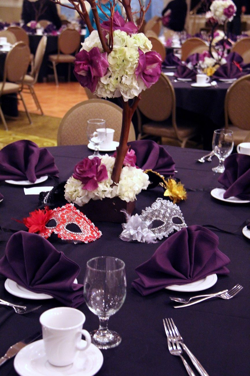 Table Setting | St. Cyril Masquerade Ball