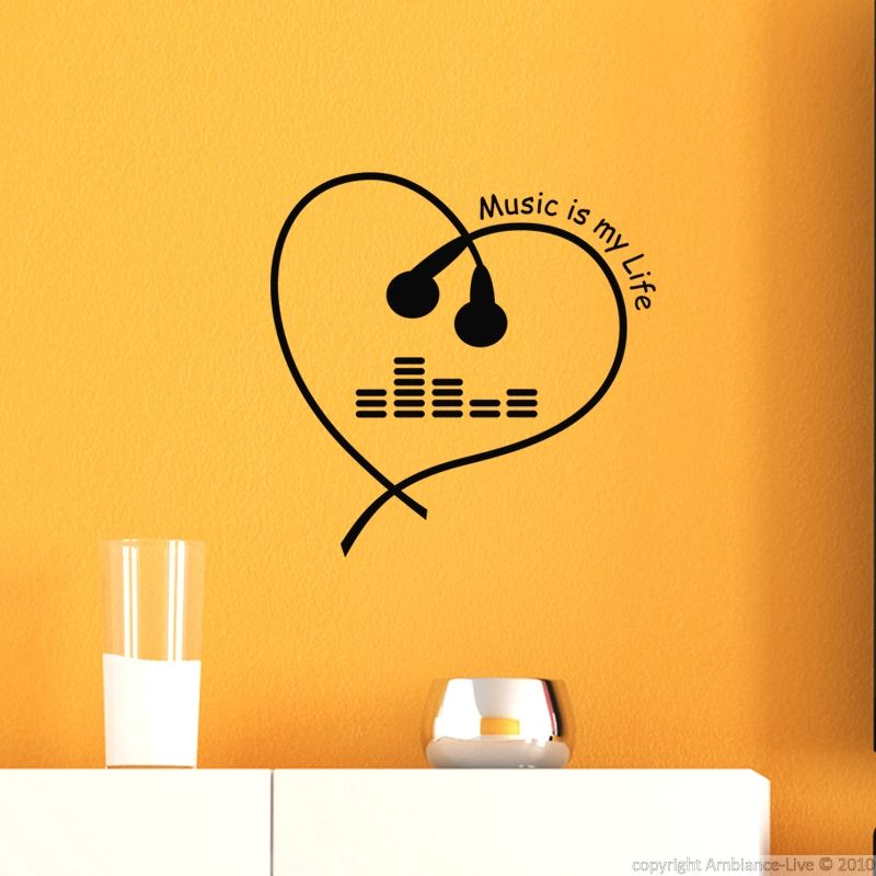 Feel the beat of the music with this Music is my life #wall #decal ...