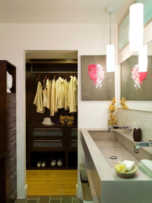Hgtv Com Shares A Modern Master Bathroom And Closet Combination That Blends Style And Ne Master Bathroom Design Modern Master Bathroom Bathroom Interior Design