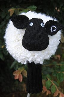 Sheep Golf Club Cover Pattern By Alison Kenny Knit Golf Club Covers Yarn Accessories Golf Club Covers
