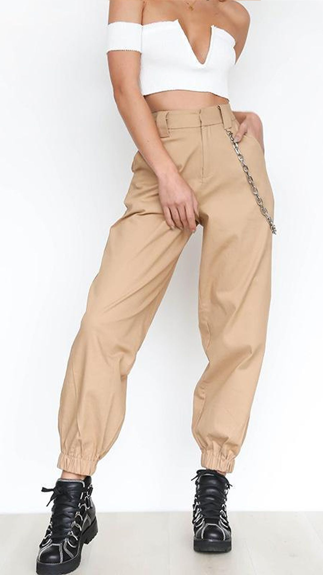 cheaper f48ce 54ad1 High Waisted Harem Pants - With Chain. 60% off until we run out of stock.  Click now to claim yours 3
