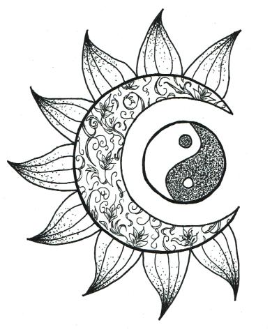 sun drawing tattoo Tumblr Sun and moon drawings, Sun