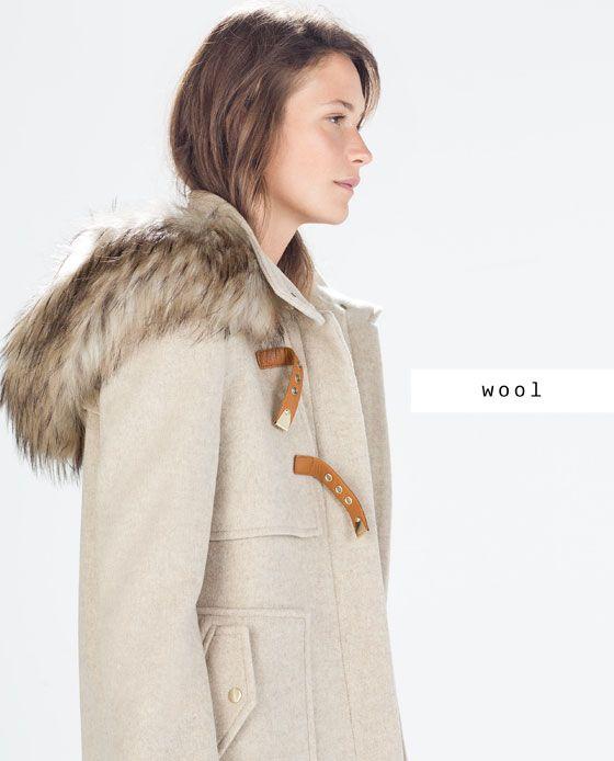 Manteau drap de laine femme zara