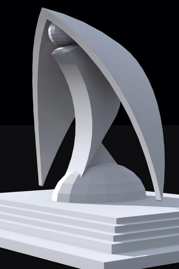 esta escultura tiene algo que me fascina pues se me hace