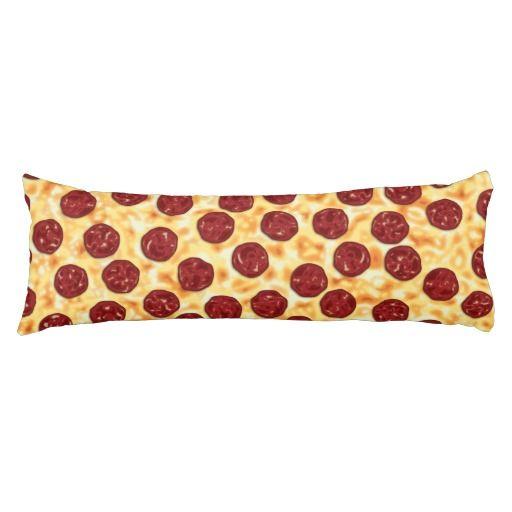 Pepperoni Pizza Pattern Body Pillow
