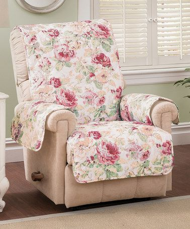 Another great find on #zulily! Tea Rose English Floral Furniture Recliner Protector by Jeffrey Fabrics #zulilyfinds