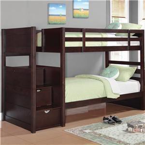Elliott Twin Bunk Bed By Coaster Wholesale Mattress Center Bunk