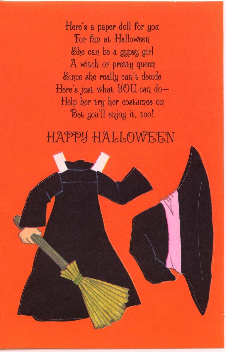 A halloween costume doll card 3 paper dolls pinterest dolls miss missy paper dolls halloween card kristyandbryce Images