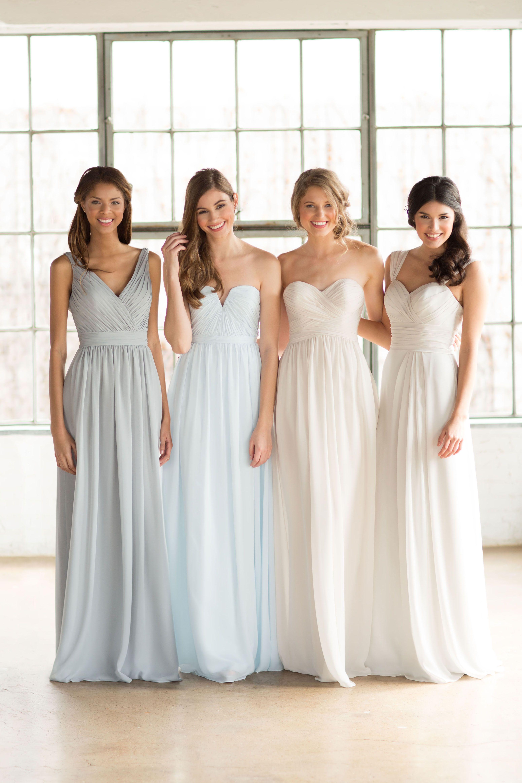 Watterswtoo ombre chiffon bridesmaids dresses the dress bridesmaid ombrellifo Choice Image