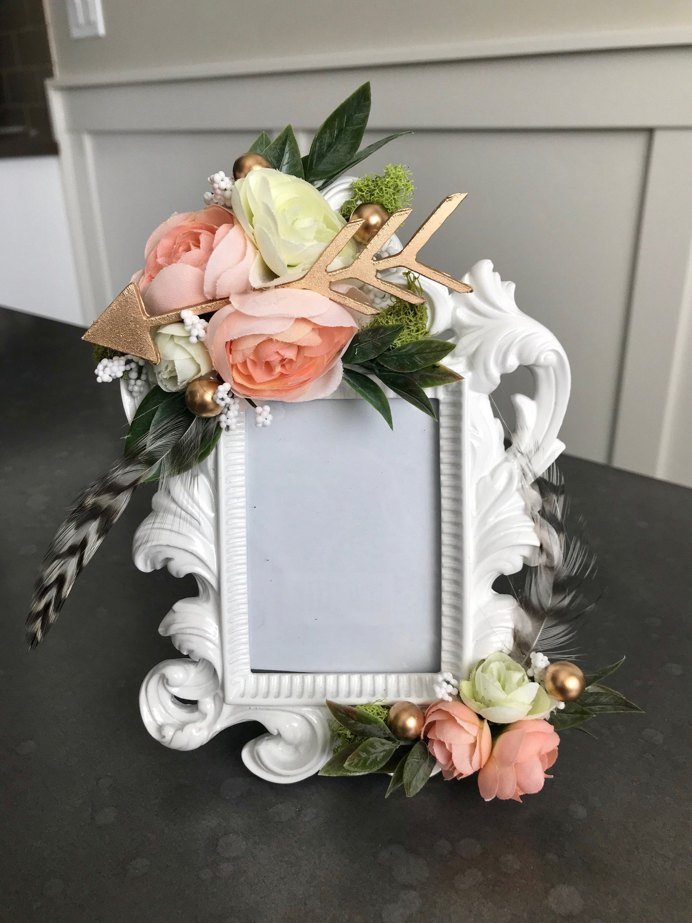 Boho Flower Frame Coachella, Baby Shower, Wedding, Nursery, Shabby Chic,