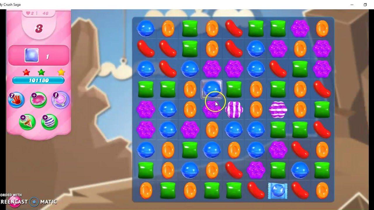 Candy Crush Saga Level 46 No Booster Candy Crush Saga Candy Crush Games Candy Crush