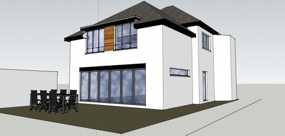 House planning permission 2 storey extension
