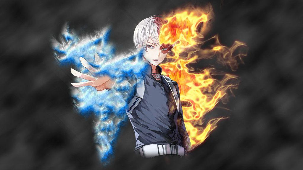 Shouto Todoroki, anime, anime boy, My Hero Academia