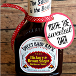 """""""You're The Sweetest"""" BBQ Sauce Father's Day Gift Idea #sweetestdaygiftsforboyfriend """"You're The Sweetest"""" BBQ Sauce Father's Day Gift Idea"""