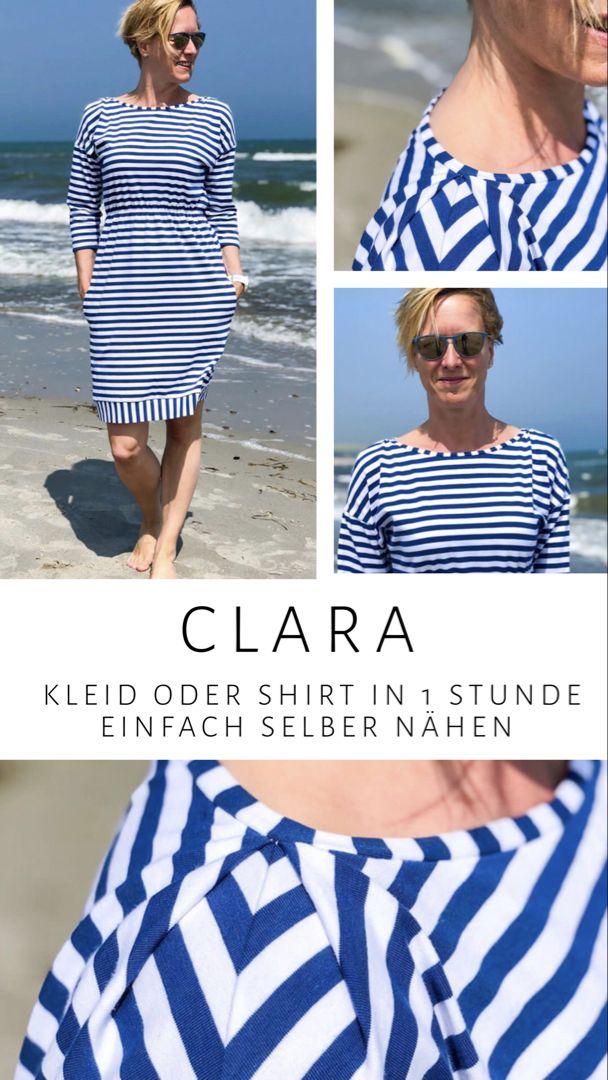 Clara einfaches Shirt oder Kleid nähen - ein Schnittmuster von FinasIdeen
