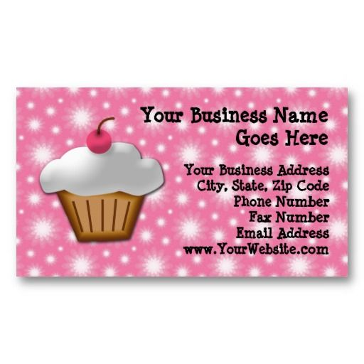 Cutout cupcake with pink cherry on top business card template cute cutout cupcake with pink cherry bakery business card wajeb Images
