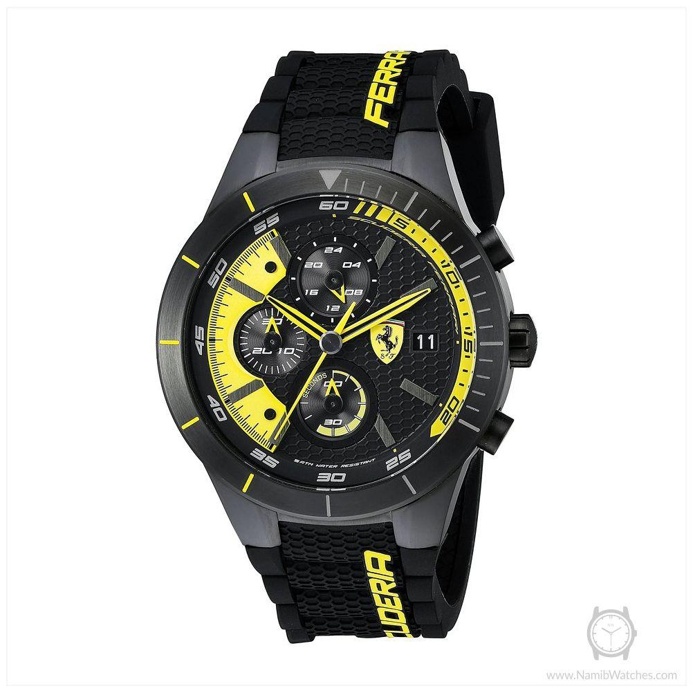 Ferrari Men S 0830261 Redrev Evo Analog Display Japanese Quartz Black Watch Watches For Men Chronograph Ferrari Watch