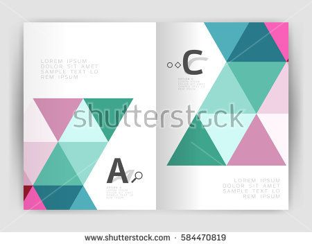 Modern business brochure or leaflet A4 cover template Abstract - business report sample