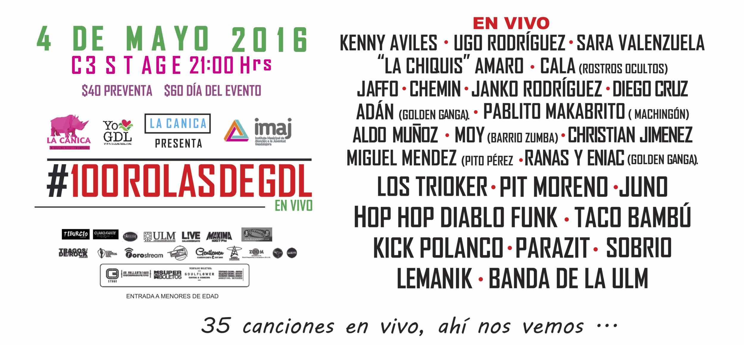 100 Canciones de Guadalajara en Vivo