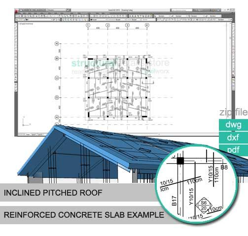 Inclined Pitched Roof Concrete Slab Reinforcement Example - new machinist blueprint examples