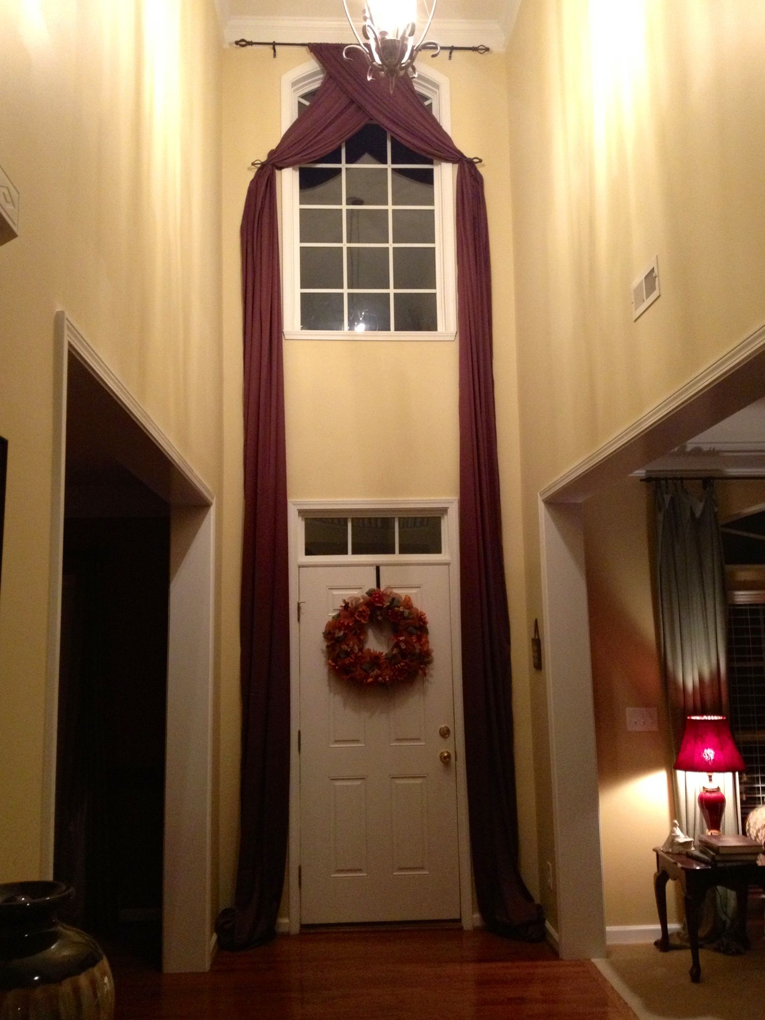 Foyer Door Curtains : Two story foyer drapes decorating ideas