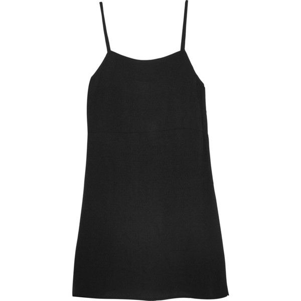 Reformation Crepe mini dress (€155) ❤ liked on Polyvore featuring dresses, mini dress, crepe dress, short dresses and slip on dress