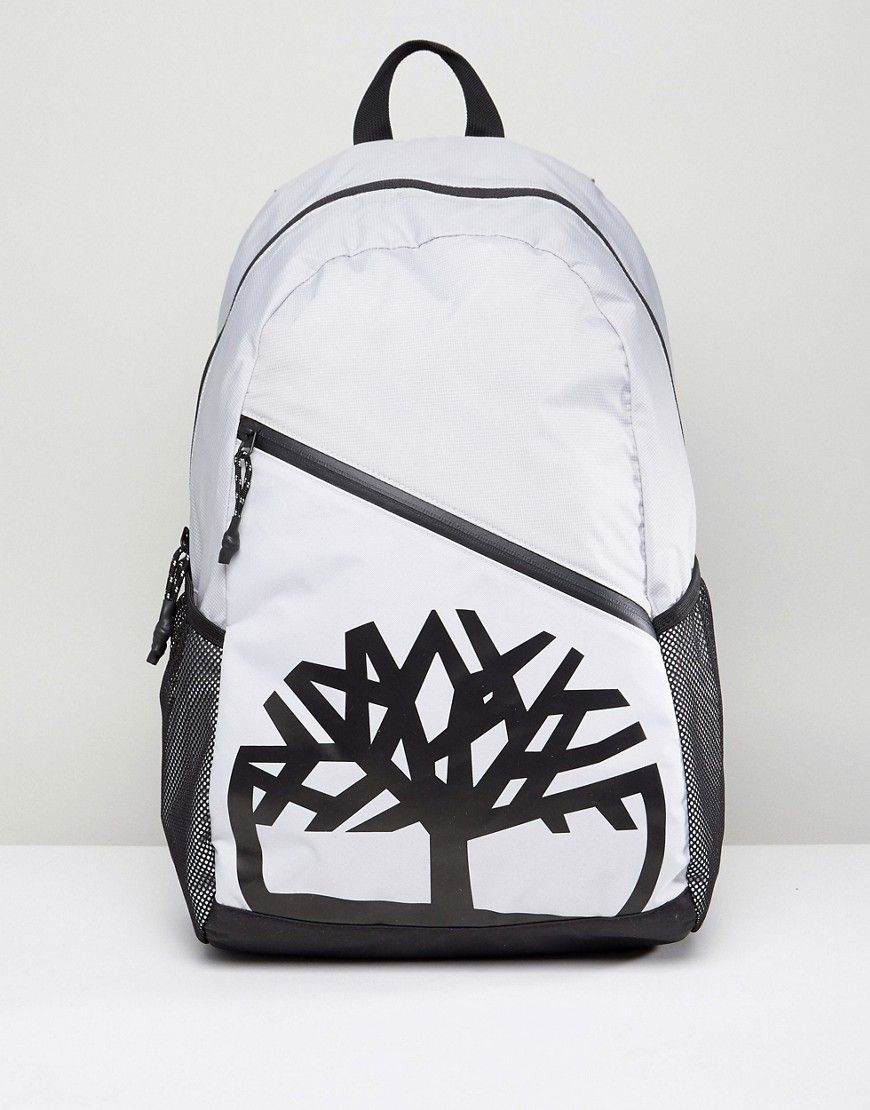 716dff128 TIMBERLAND CLASSIC BACKPACK LARGE TREE LOGO IN GRAY - GRAY. #timberland  #bags #backpacks #