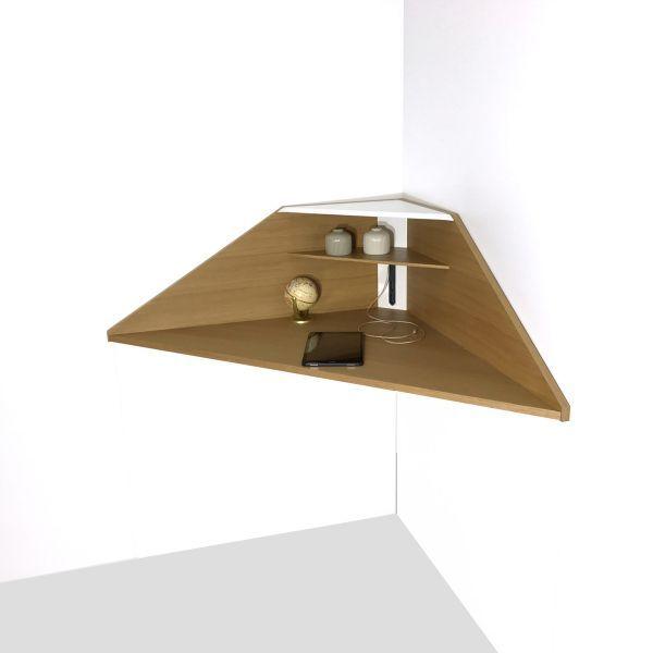 der eck design sekret r von noook zur wandmontage ohne beine mit steckdose und usb anschluss. Black Bedroom Furniture Sets. Home Design Ideas