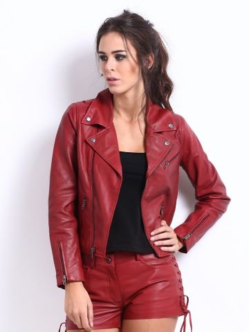 leather jacket women red - Google Search | Winter | Pinterest ...