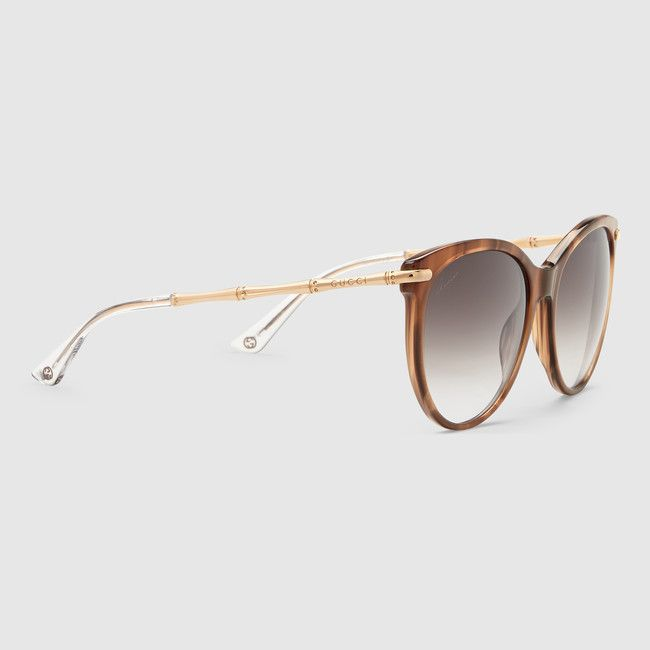 b78246900f Gucci Style No  GG 3771 S Cat eye sunglasses with metal bamboo temples Red  Horn Acetate