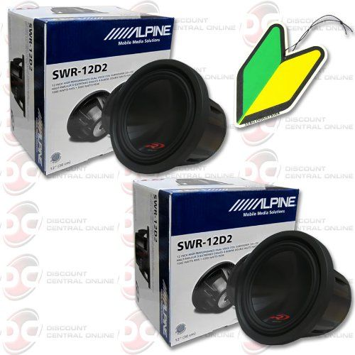 2 X Alpine 12 12 Inch Dual 2 Ohm Type R Car Audio Sub Woofers Pair With Free Squash Air Fresheners Http Car Audio Car Audio Subwoofers Subwoofer Box Design