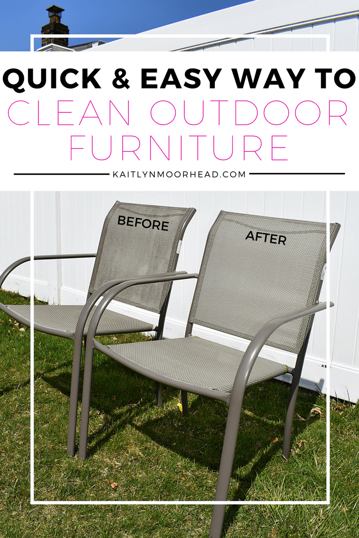 welcome clean outdoor furniture