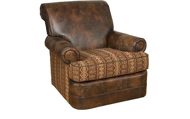 King Hickory Monica Swivel Leather Swivel Chair Chair Swivel Chair