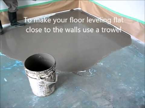 Self Leveling Floor Compound How To Prepare And Put Basement Makeover Pinterest Basements