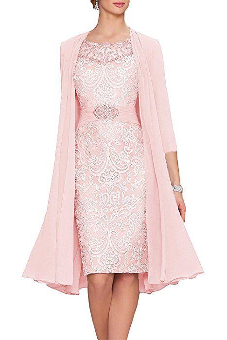 APXPF Women s Tea Length Mother Of The Bride Dresses Two Pieces With Jacket  Aqua US2 at d29b8f3eca