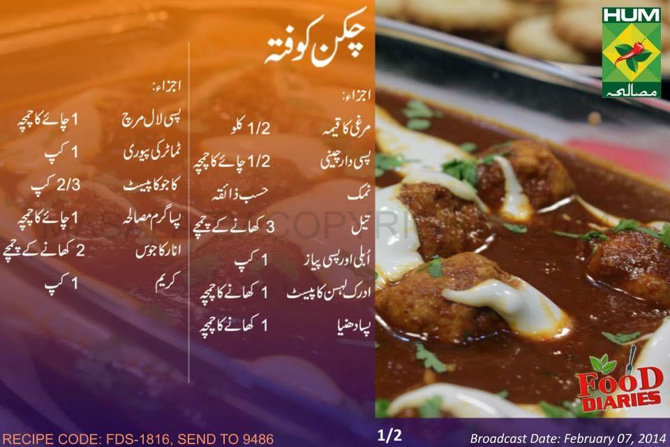 Chicken Kofta Recipe In Urdu English Rida Aftab Masala Tv TV