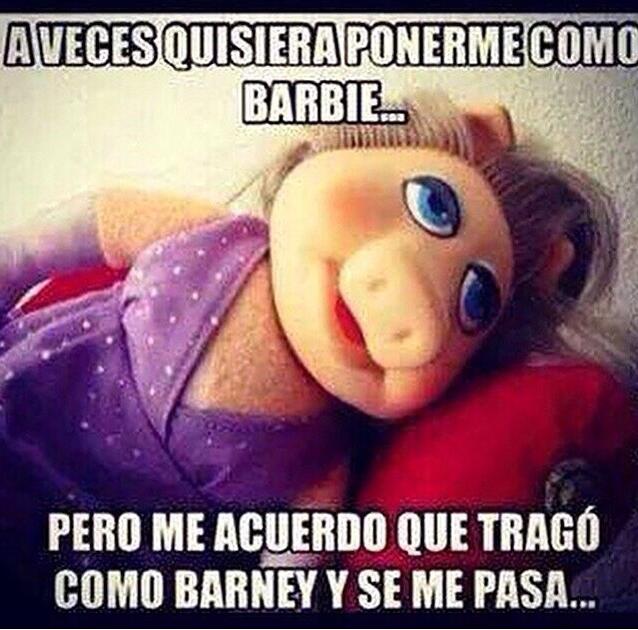 Barbie O Barney Memes Chistosisimos Frases Divertidas Humor En Espanol