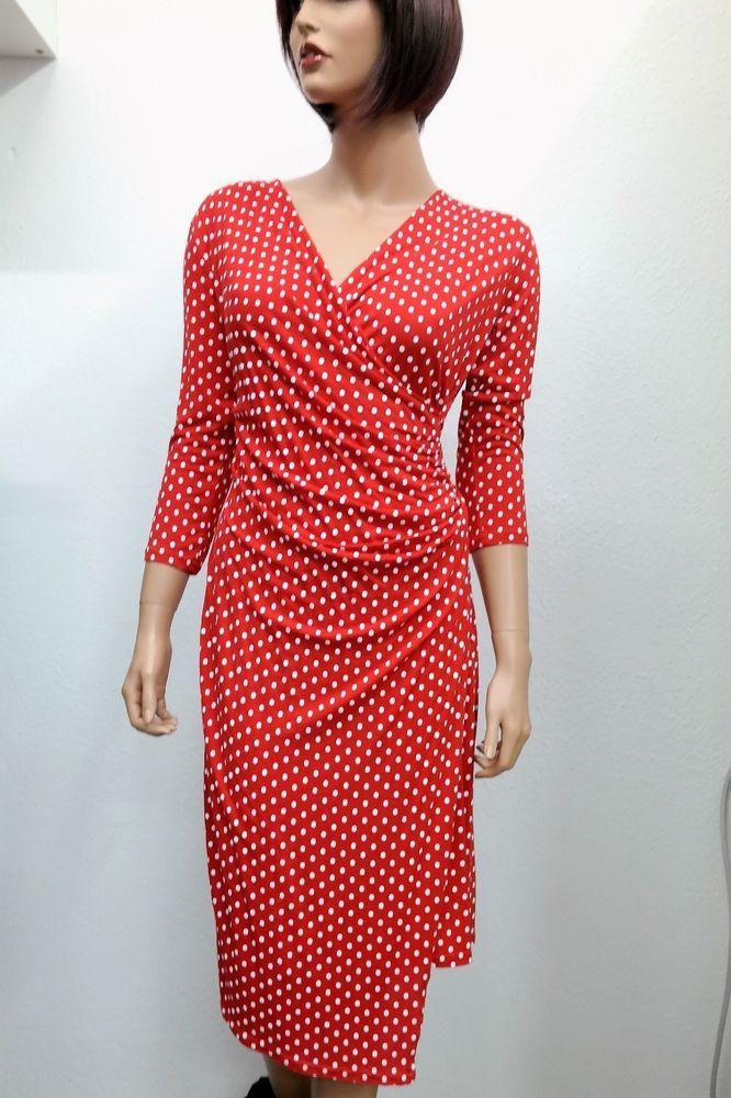 Wickel Kleid Rot mit Punkte 38 #fashion #style #love #art ...