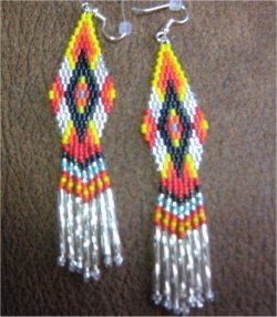 Native American Style Brightly Colored 1 by BeadinAndScrollSaw4U