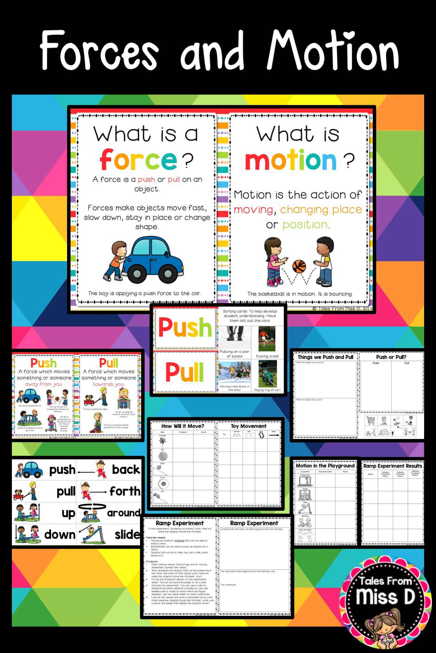 Forces And Motion Homeschooling Pinterest Worksheets