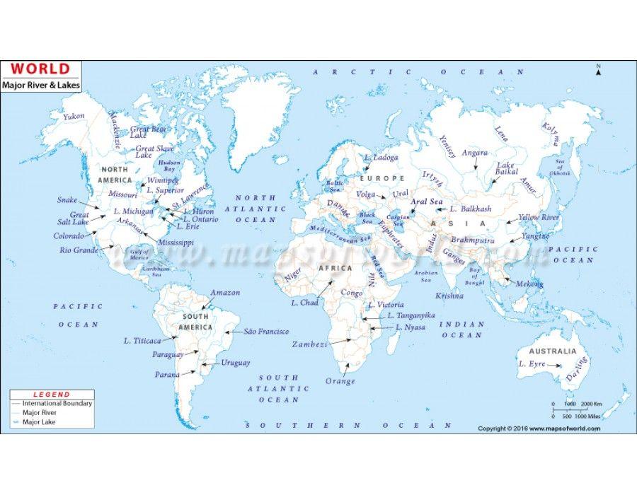 Buy Printed World River Map Rivers Buy Prints And Printing - World map rio grande river