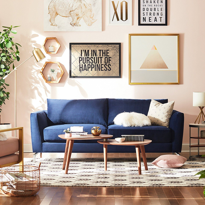 Best Discount Furniture Stores: Amazon.com: Rivet Allyson Mid-Century Two-Shelf Adjustable