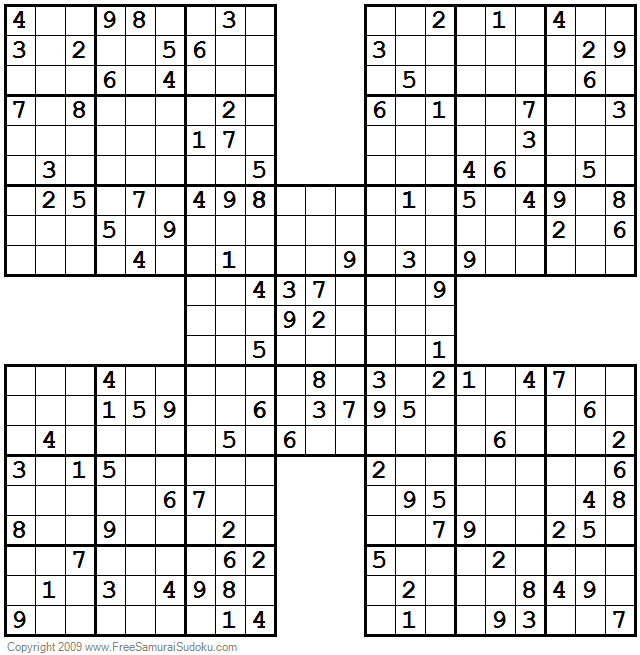 graphic about Sudoku Samurai Printable identified as As a result of Picture Congress Samurai Sudoku Impossible