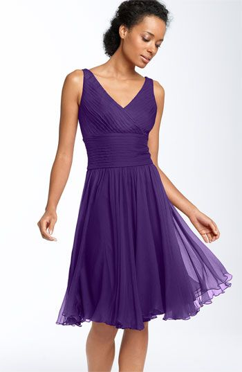 63c54b45faeca JS Collections Sleeveless Chiffon Dress (Petite) love that has no cleavage  yet low cut and is knee length !