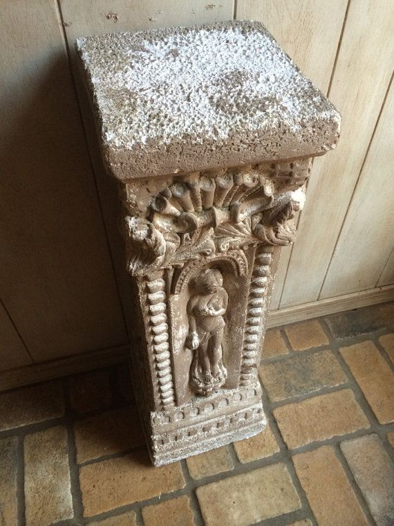 Antique Plaster Column Greek Roman Column Pedestal By