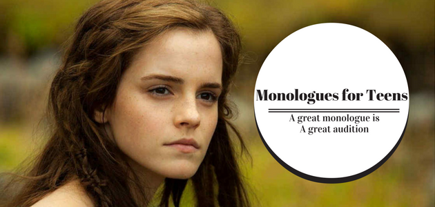 Monologues for girl teenagers